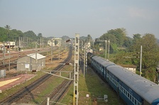 View of the Chengalpattu Railway Junction, one of the main stations in the Chord Line