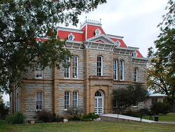 The Concho County Courthouse in Paint Rock