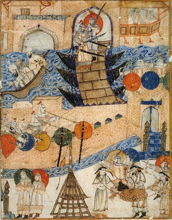 Siege of Baghdad by the Mongols led by Hulagu Khan in 1258