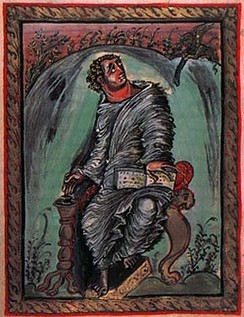 Saint Mark, from the Carolingian Ebbo Gospels.