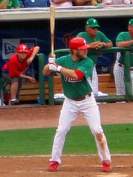 The Philadelphia Phillies started the tradition of wearing green uniforms on St. Patrick's day.