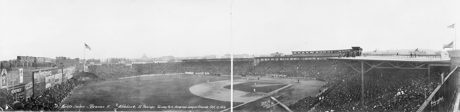 Fenway Park on October 12, 1914, for the third game of the 1914 World Series.