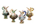 Four Elements Porcelain Ewers by Meissen, 18th century.