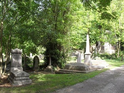 "The Extra Mural Cemetery, ""one of the most delightful spots in the whole of Brighton"",[13] was consecrated in 1851."