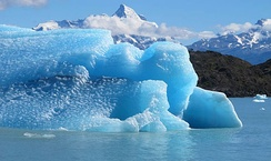 Melting glaciers can cause a change in sea level