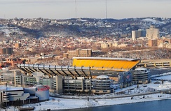 Heinz Field, current home of the Pittsburgh Steelers.