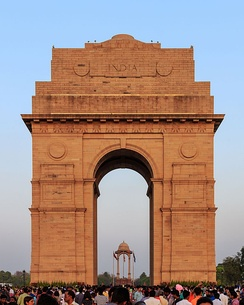The India Gate in Delhi commemorates the Indian soldiers who died during World War I