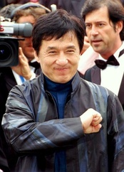 Jackie Chan, one of the best known Hollywood actors and martial artists.