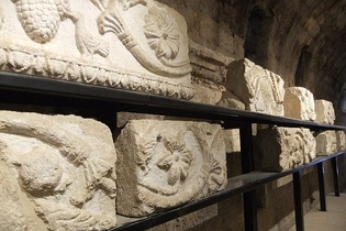 Elements of frieze from the sanctuary of Zeus at Jerash