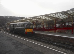 Keighley Station on the KWVR