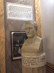 Bust of Bonaparte at Palazzo Parisio in Valletta