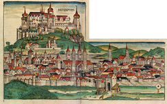 Woodcut depicting Würzburg from the Nuremberg Chronicle (1493)