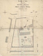 An 1852 map showing Park House, now the site of the Town Hall