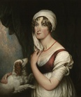 Mrs Sarah Trumbull with a spaniel 1802