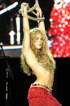 Shakira at the Rock in Rio festival in 2008.