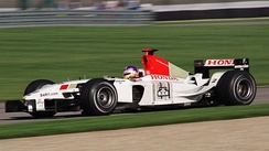 Jacques Villeneuve driving for the then Prodrive-run BAR team at the US Grand Prix at Indianapolis in 2003