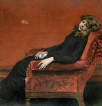 The Young Orphan or At Her Ease, 1884, National Academy of Design, New York