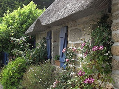 A cottage garden in Brittany