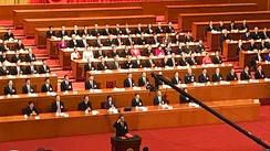 Li Keqiang publicly swore an oath to the Constitution upon formally taking office after he was appointed as the Premier in the 1st Session of the 13th National People's Congress.