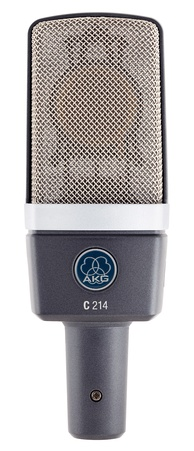The AKG C214 condenser microphone
