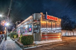 A 1950s-style diner in Orange, Essex County