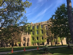McMaster University is the only university whose main campus is located in the city.