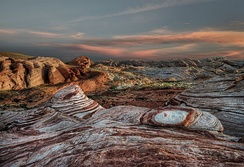 Sunset, Valley of Fire State Park, in NE Clark County.