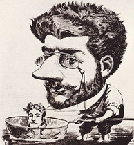Caricature of Bizet, 1863, from the French magazine Diogène