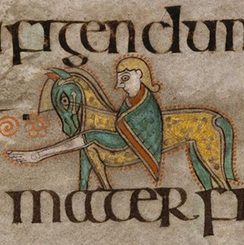 A horse rider from the Book of Kells