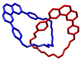 Crystal structure of a catenane reported by Sauvage and coworkers in the Chem. Commun., 1985, 244-247.