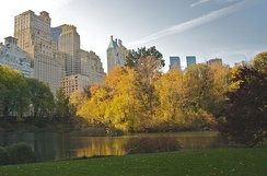 Apartments facing Central Park in midtown Manhattan, New York, United States
