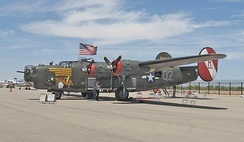 Collings Foundation B-24J Witchcraft at Marana AZ, 11 April 2011. According to Collings this is the only restored flying B-24J in the world