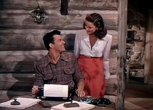 Cornel Wilde and Gene Tierney in a scene from the film