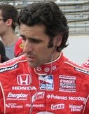 Dario Franchitti (left) won his second Drivers' Championship while Scott Dixon (right) finished second in the championship.