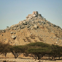 The hilltop fort of Dhayah