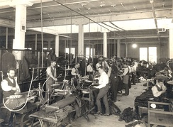Interior of one of the Eaton's factories in Toronto, Canada