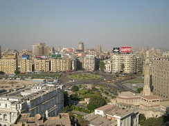 View of Tahrir Square (in 2008).