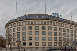The headquarters of Deutschlandfunk Kultur, formerly the RIAS building, in Berlin