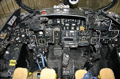 The cockpit of a preserved Hunter