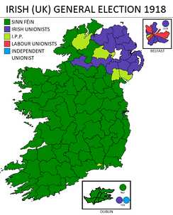 Result of the 1918 general election in Ireland