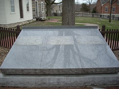 Gravesite of Joseph, Emma, and Hyrum Smith, in Nauvoo, Illinois