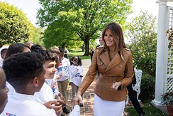 "Melania Trump attending a ""Be Best"" rally with children"