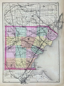Map of Monroe County from 1873