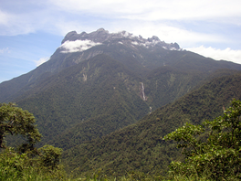 Mount Kinabalu in 1987, the tallest mountain in the island.