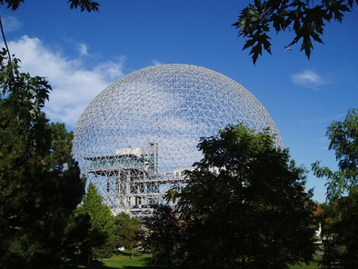 The Montreal Biosphère, formerly the American Pavilion of Expo 67, by R. Buckminster Fuller, on Île Sainte-Hélène, Montreal, Quebec