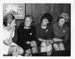NOW founder and president Betty Friedan (1921–2006) with lobbyist Barbara Ireton (1932–1998) and feminist attorney Marguerite Rawalt (1895–1989).