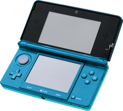 The Nintendo 3DS uses parallax barrier autostereoscopy to display a 3D image.