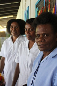 photograph of three nurses