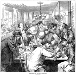 """Discussing the War in a Paris Café"", The Illustrated London News 17 September 1870"