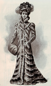 Chinchilla fur coat, exhibited at the 1900 Exposition Universelle, Paris